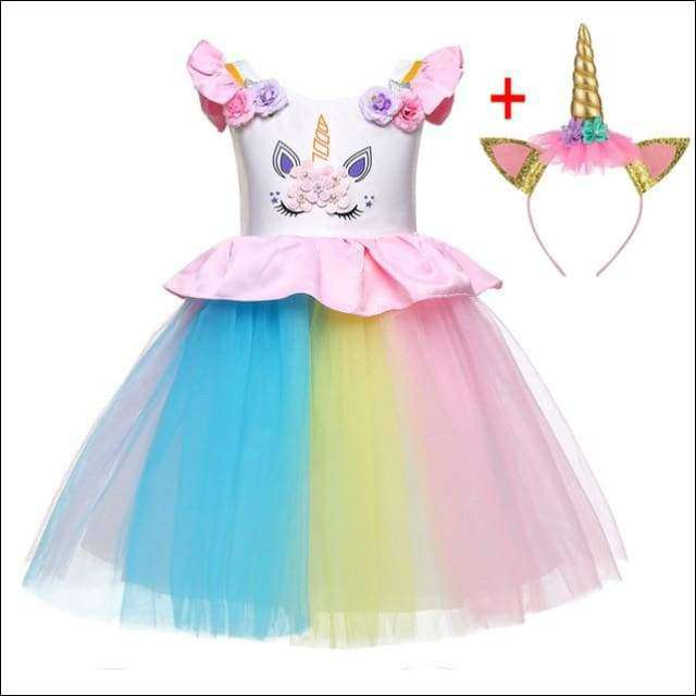 Unicorn Costume Princess Dresses Pageant Party Girls | Heccei