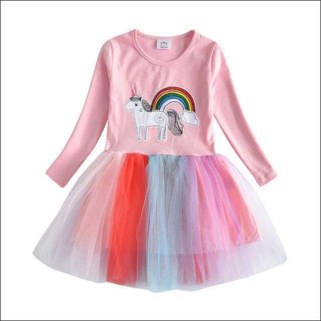 Unicorn Dresses For Girls Long Sleeve Kids Fancy Dresses | Heccei