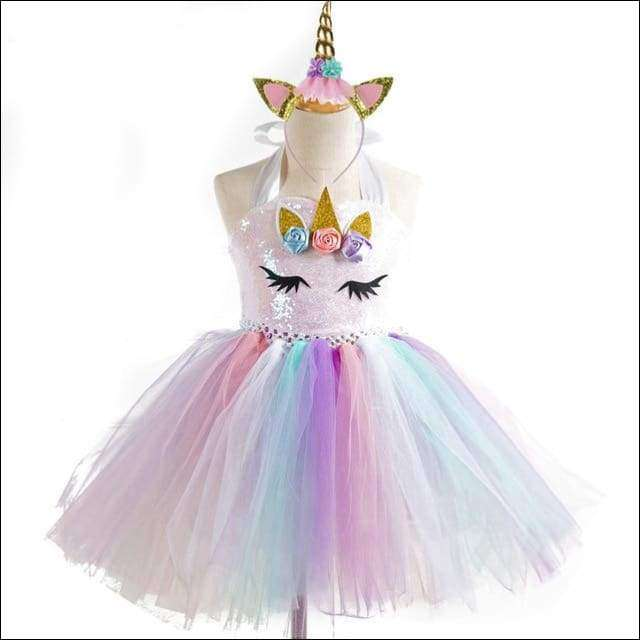 Unicorn Tutu Dress for Girls Party | Heccei