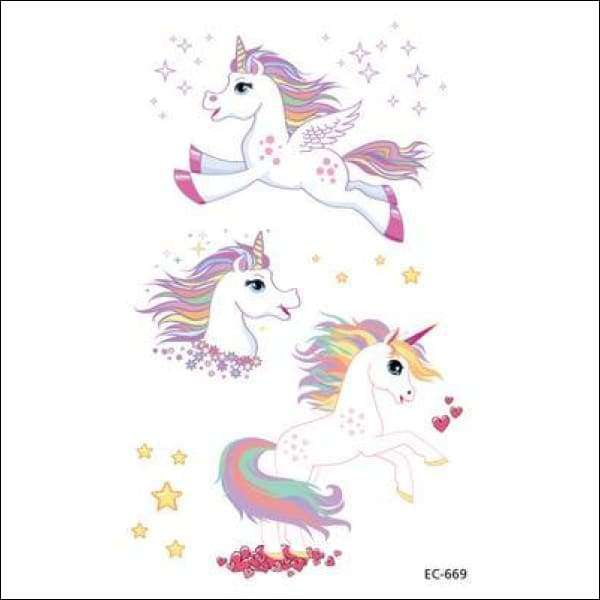 Waterproof Temporary Unicorn Tattoo | Heccei