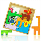 Wooden Tetris Animal Puzzle for kids | Heccei