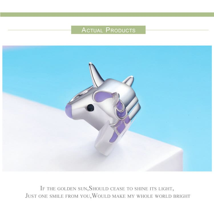 Sterling Silver Fairy Unicorn Charm Beads