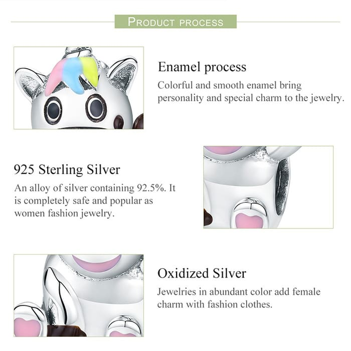 Bruno the Unicorn Beads Charm