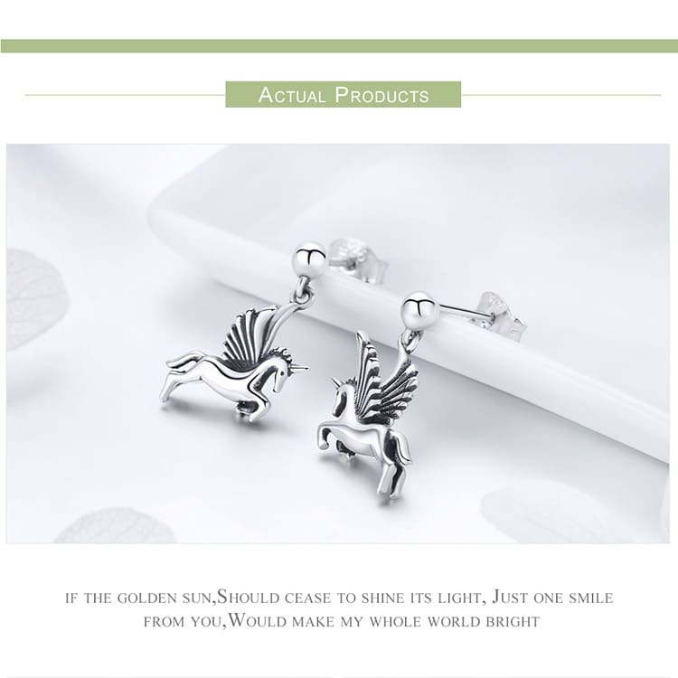 Unicorn Earrings 925 silver