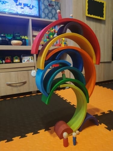 Large 12-Piece Rainbow Stacker