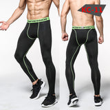 2016 Men Compression Pants Tights Casual  Bodybuilding Mans Trousers Brand Camouflage Army Green Skinny Leggings