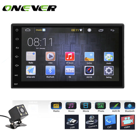 "Car Stereo MP5 MP3 Player Touch Screen 1G/16G Support  GPS FM  with USB 3G WIFI Rear Camera 7"" 2 DIN Android 5.1 Bluetooth 1080P"