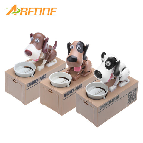 ABEDOE Dog Eating Box Automatic Saving Bank Chewing Piggy Bank Cat  Safe Box Savings Money for Children Candy Machine