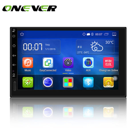 "Onever 7"" Android 5.1 Autoradio GPS Bluetooth Navigation Car Stereo Player Fully Capacitive Touch Screen 2 DIN with USB 3G WIFI"