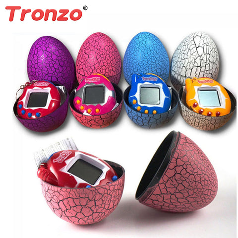 Multi-colors Dinosaur egg Virtual Cyber Digital Pet Game Toy Tamagotchis Digital Electronic E-Pet Easter Egg Gift  For Children
