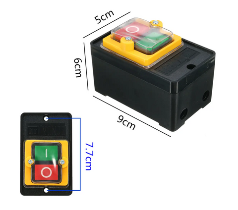 Waterproof ON/OFF Switch dimensions