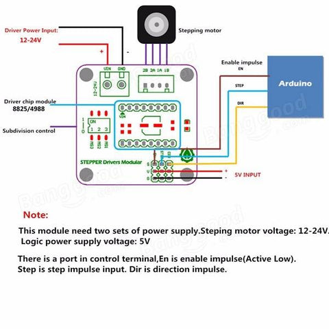 Stepper Motor Driver Breakout Board Connections