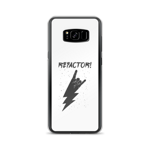 Refactor! grey on white Samsung case