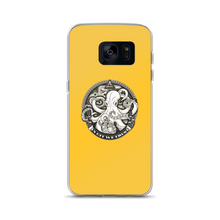 In GIT We Trust, black on yellow Samsung case