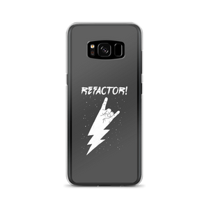 Refactor! white on grey Samsung case