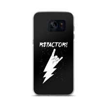 Refactor! white on black Samsung case