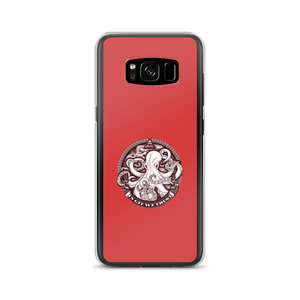 In GIT We Trust, black on red Samsung case