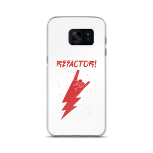 Refactor! red on white Samsung case