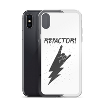 Refactor! grey on white iPhone case
