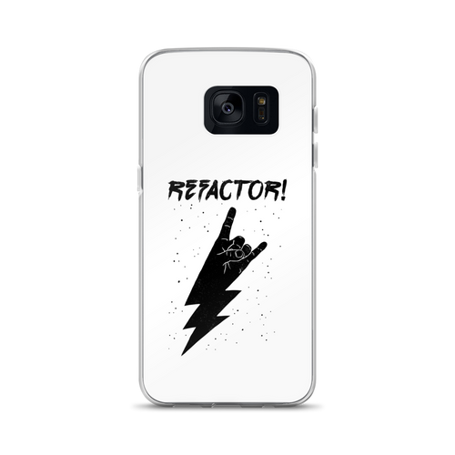 Refactor! black on white Samsung case