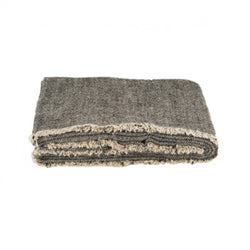 LISSOY THROW - NATUREL BLACK