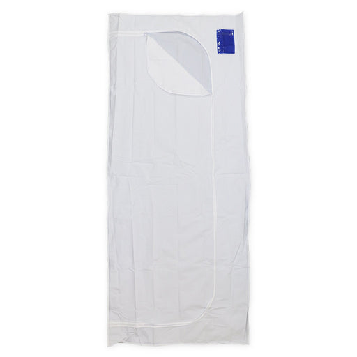 Body Bag White PEVA 3 Sided Zip & Pocket