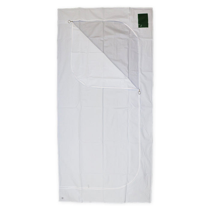 Body Bag White Adult Size 3 Sided Zip
