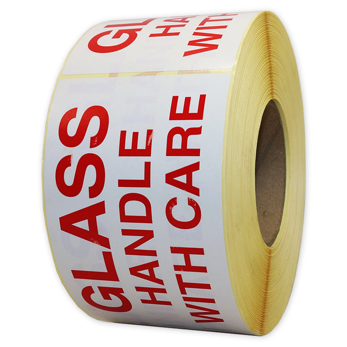 Glass Handle With Care Label 150 x 90mm