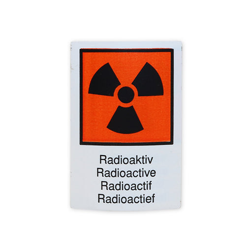 "S/A Hazard Warning Label ""Radioactive"""