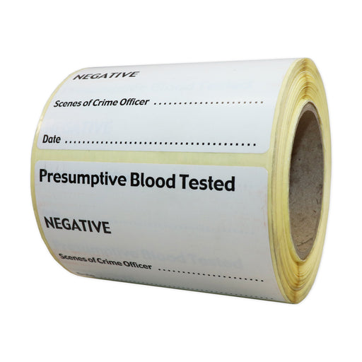 Negative Presumptive Blood Test Label