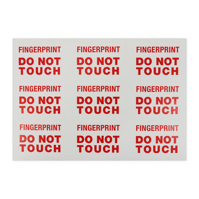 "Label ""Fingerprints Do Not Touch"""