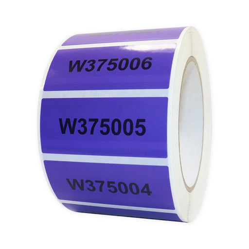 Purple SealSafe Label 30mm x 70mm