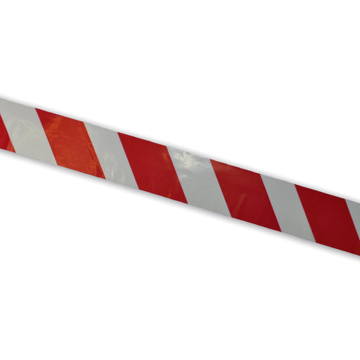 Barrier Tape Red / White 30mu 75mm x 500m