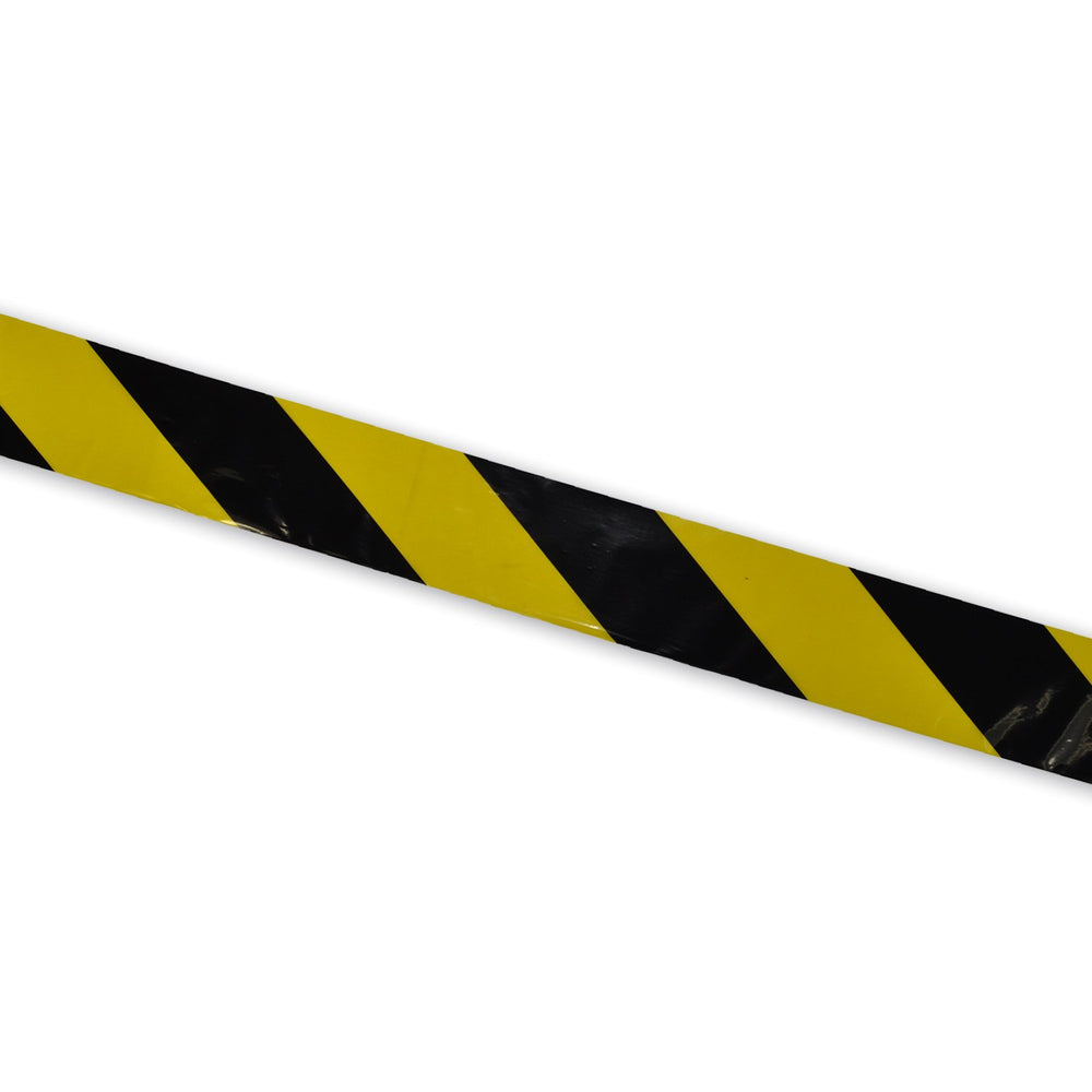 Barrier Tape Black / Yellow 30mu 75mm