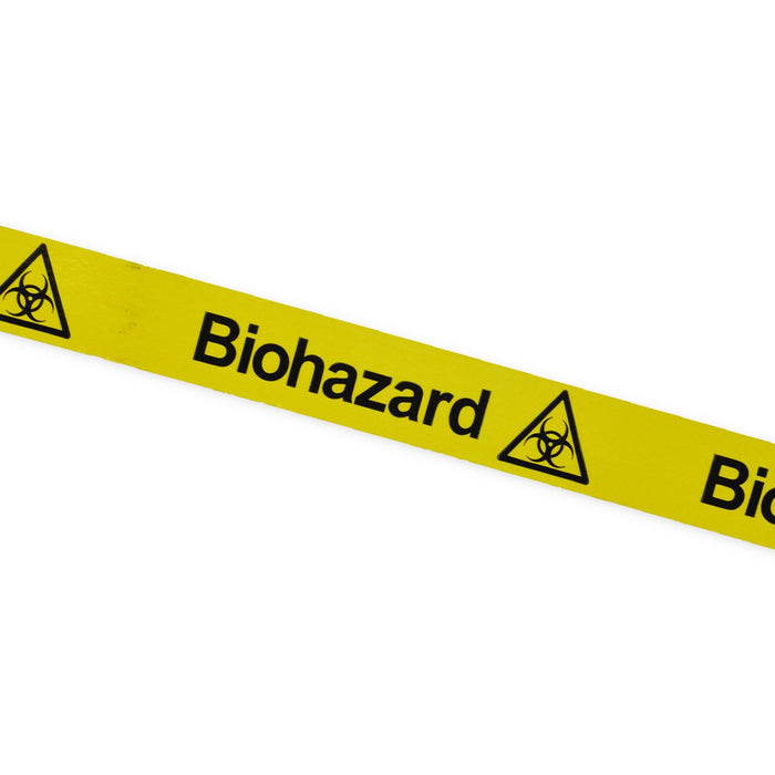 """Biohazard"" Tape With Symbol 25mm x 66m"