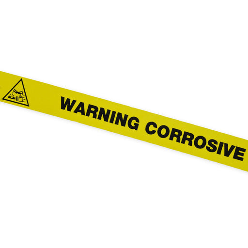 WARNING CORROSIVE Tape 25mm x 66m