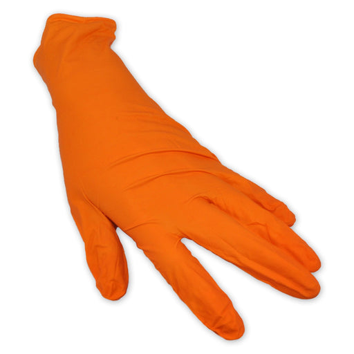 Shieldskin Orange Nitrile Gloves
