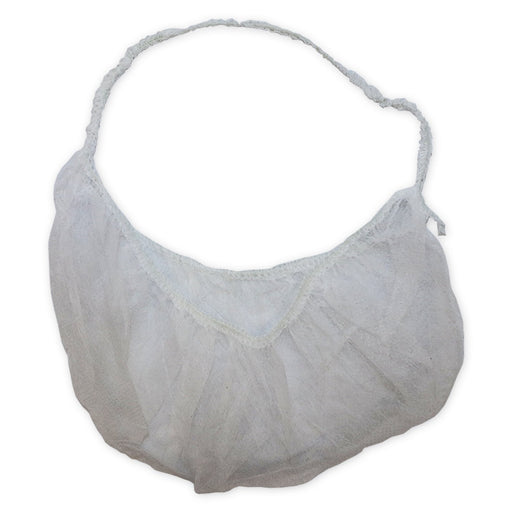 Beard Cover White With Elastic