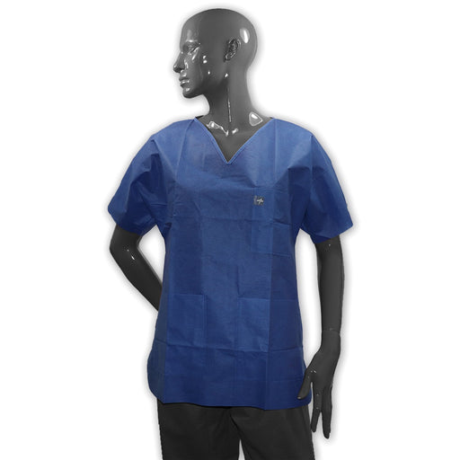 Scrub Suit Top, SMS, Blue