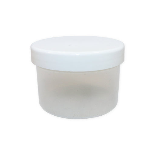 150ml Container Clear Plastic Body With White Screw Top Lid