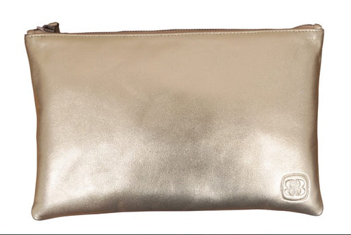 Better Gold Leather Clutch