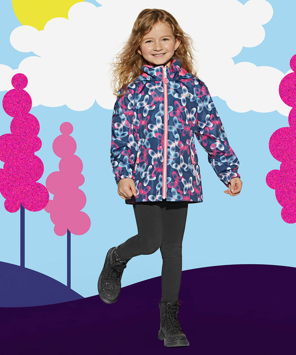 WYLLA-BLUE - Girls 3 in 1 Jacket and Pant Set