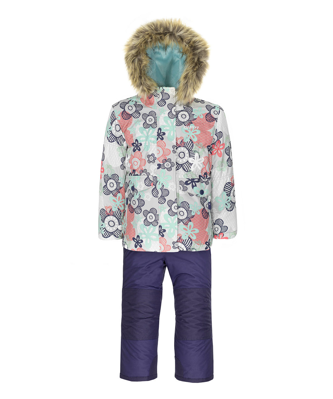 ELIE - Gray - Girls Jacket and Snow Pant Set