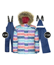 Load image into Gallery viewer, IZALINE - Estate Blue - Girls Jacket and Snow Pant Set