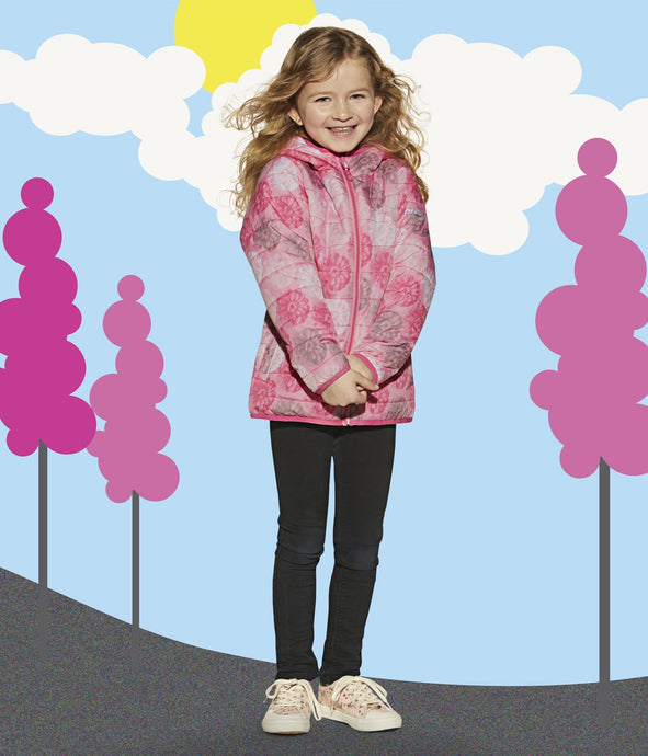 MAIA - PINK - Girls Lightweight Jacket