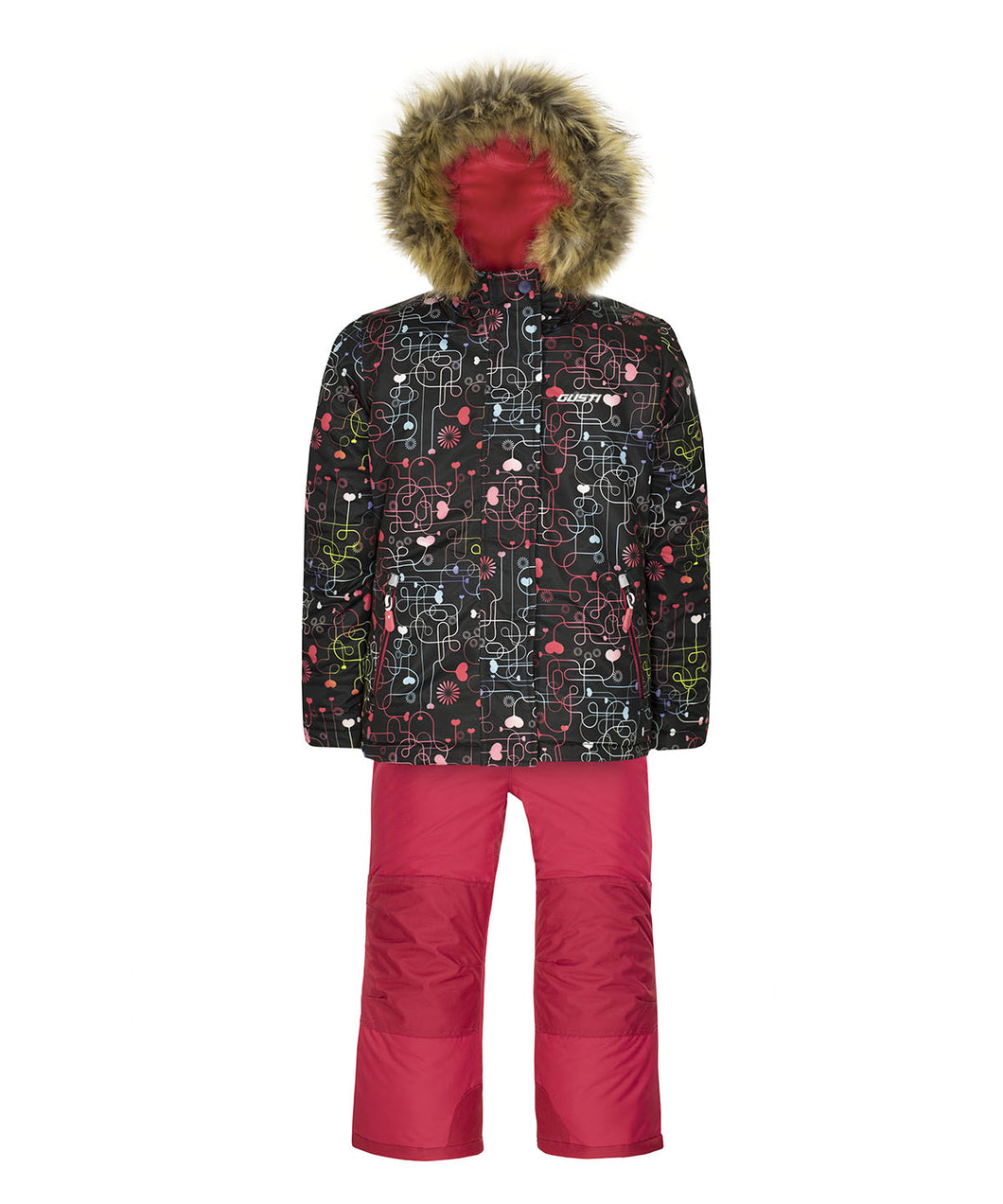 ODILA - Black - Girls Jacket and Snow Pant Set