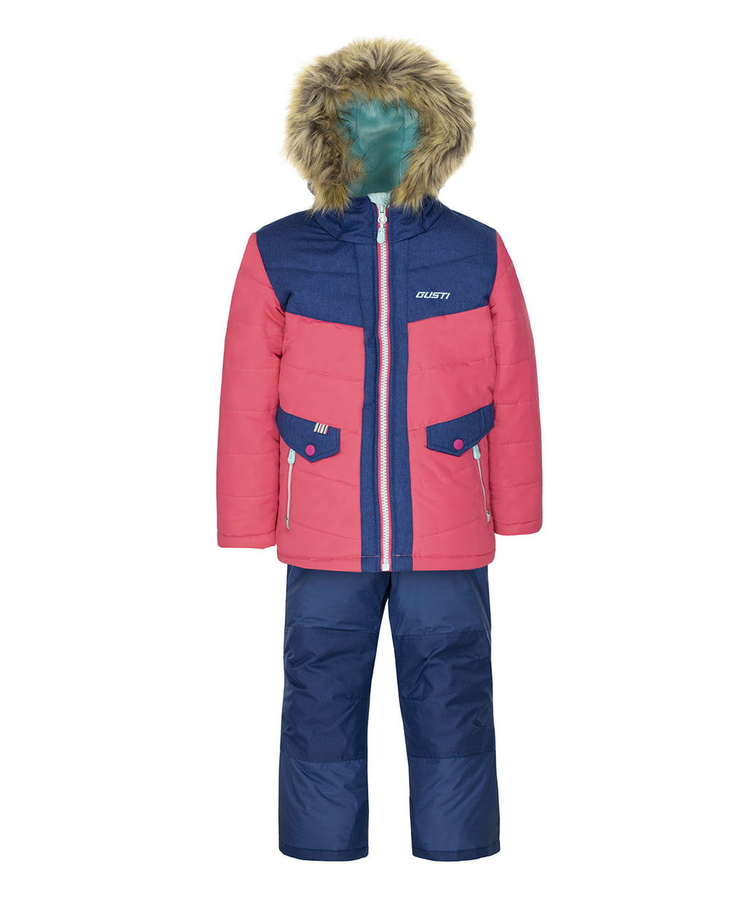UVANIA - Estate Blue - Girls Jacket and Snow Pant Set
