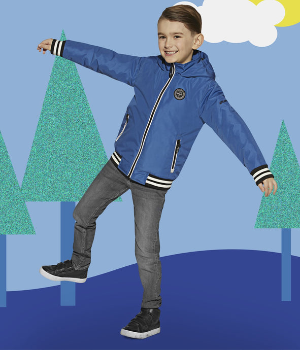 UBERTO - BLUE - Boys Lightweight Jacket