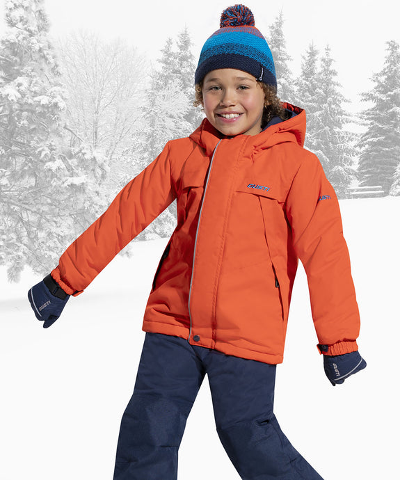 FARRELL - Orange - Boys Jacket and Snow Pant Set