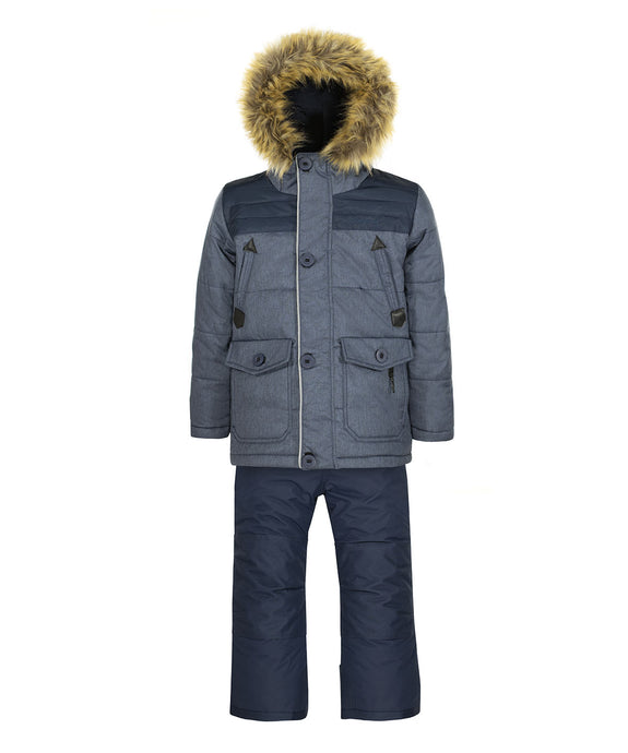 GARY - Navy - Boys Jacket and Snow Pant Set